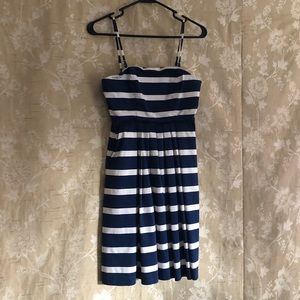 Gap Navy & White Dress